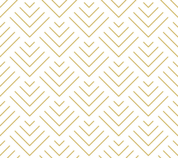 Art deco style geometric scales in gold. Seamless vector pattern Art deco style geometric scales in gold. Seamless vector pattern natural pattern stock illustrations