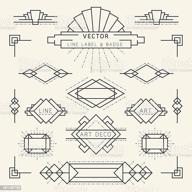 Art deco style line and geometric labels and badges monochrome vector id481485798?b=1&k=6&m=481485798&s=612x612&h=s77iedn2legeuxfei vu9noiohuwdtnssk0e71riypq=