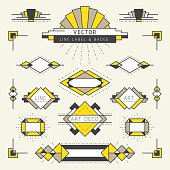 Art Deco Style Line and Geometric Labels and Badges