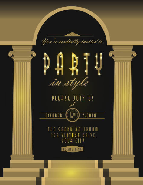 royalty free great gatsby party clip art vector images