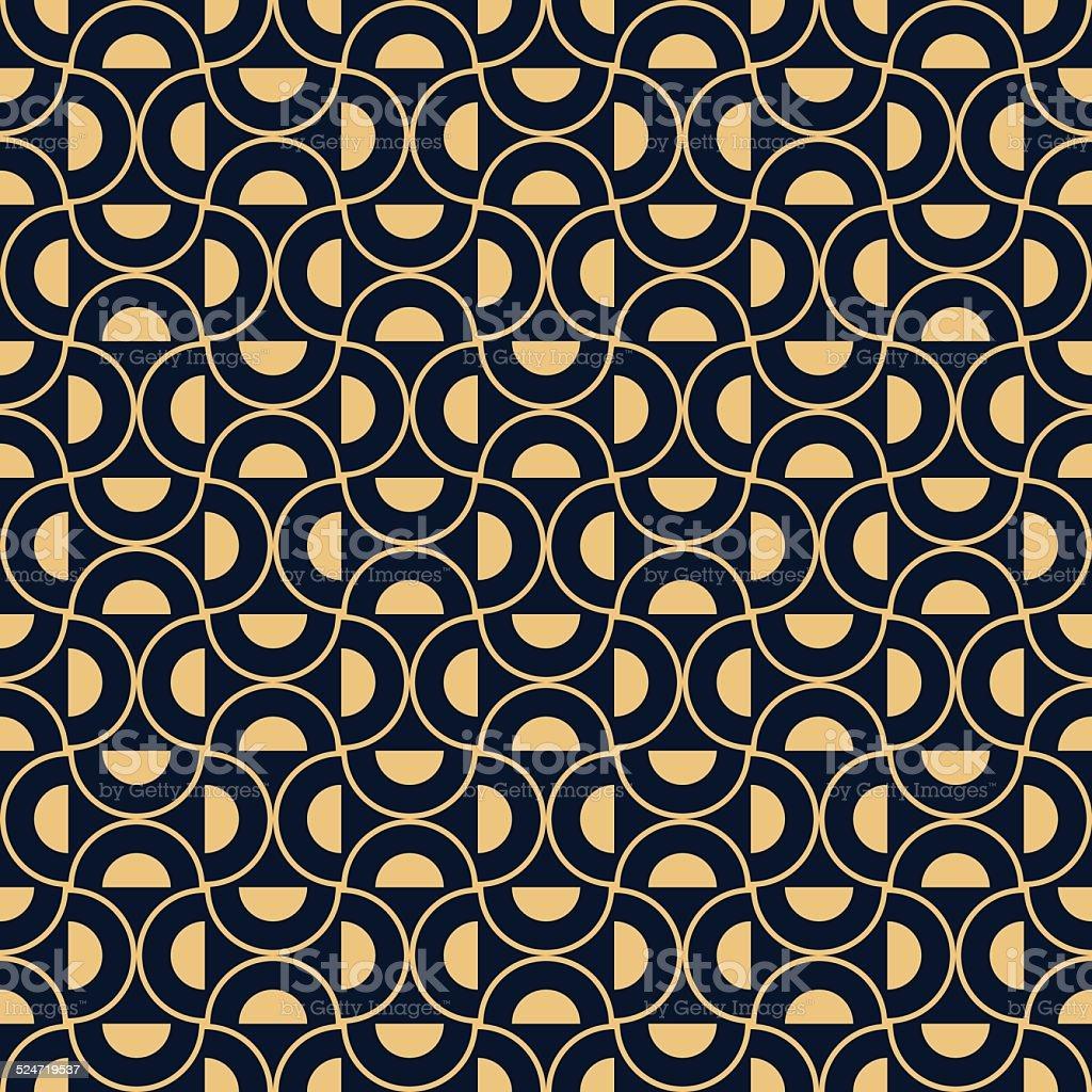 Fantastic Royalty Free Art Deco Half Circle Pattern Clip Art, Vector Images  XQ84