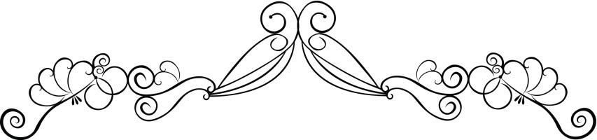 art deco swan accent ( vector )