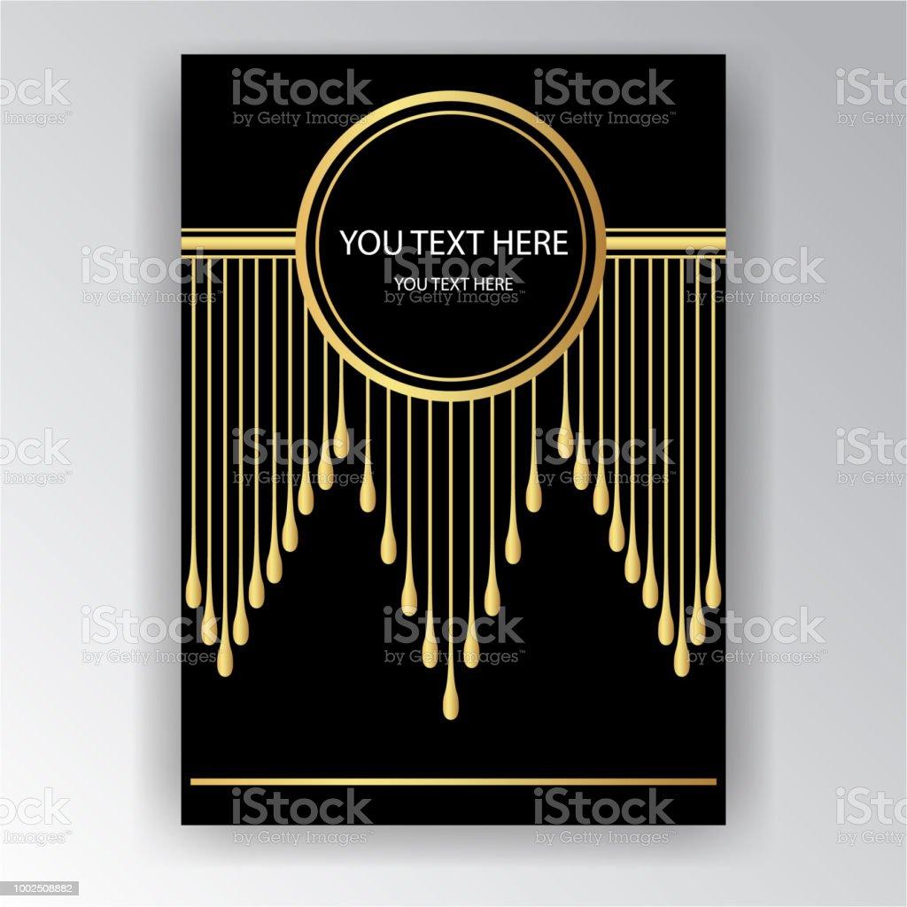 Artdecovorlage Goldenschwarz Seitenvorlage Stock Vektor Art und mehr ...