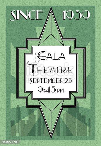 Art Deco Theatre Poster