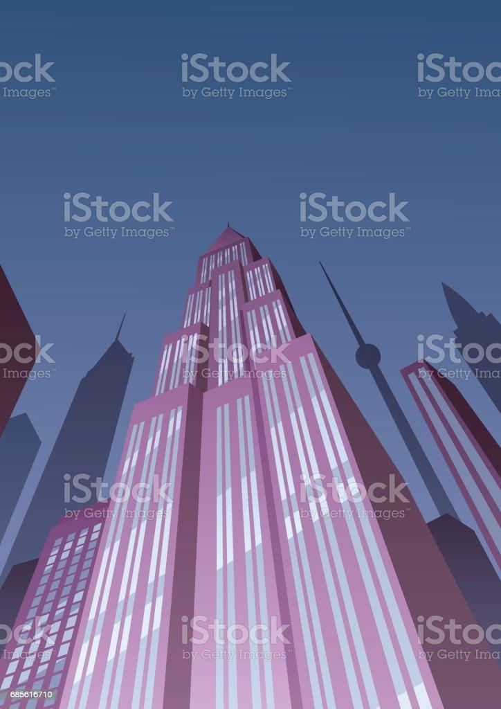 アールデコ タワー 2 ベクターアートイラスト