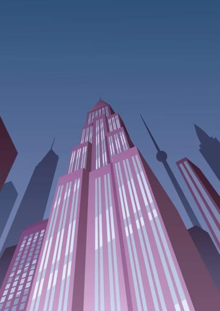 アールデコ タワー 2 - 漫画の風景点のイラスト素材/クリップアート素材/マンガ素材/アイコン素材