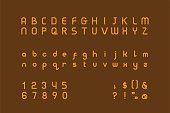 istock Art Deco typeface in golden color 1307122898