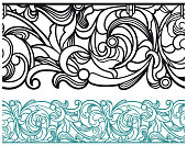 Vector Illustration of a beautiful Art deco line divider border