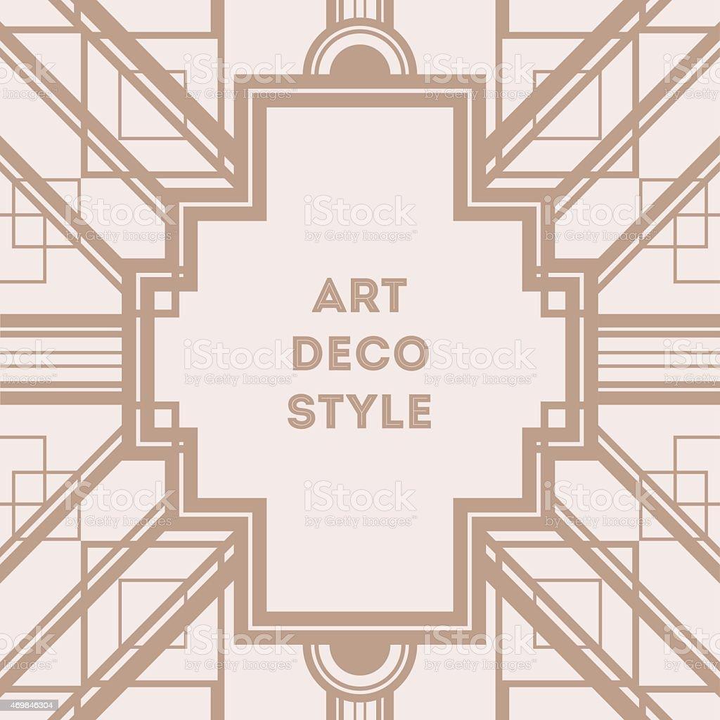 Art Deco Vintage Decorative Frame Retro Card Design Vector Template ...