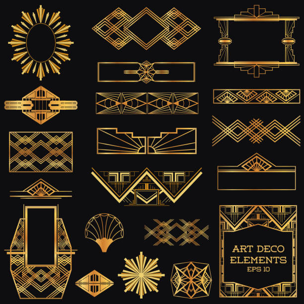 Royalty free art deco clip art vector images - Art deco design elements ...