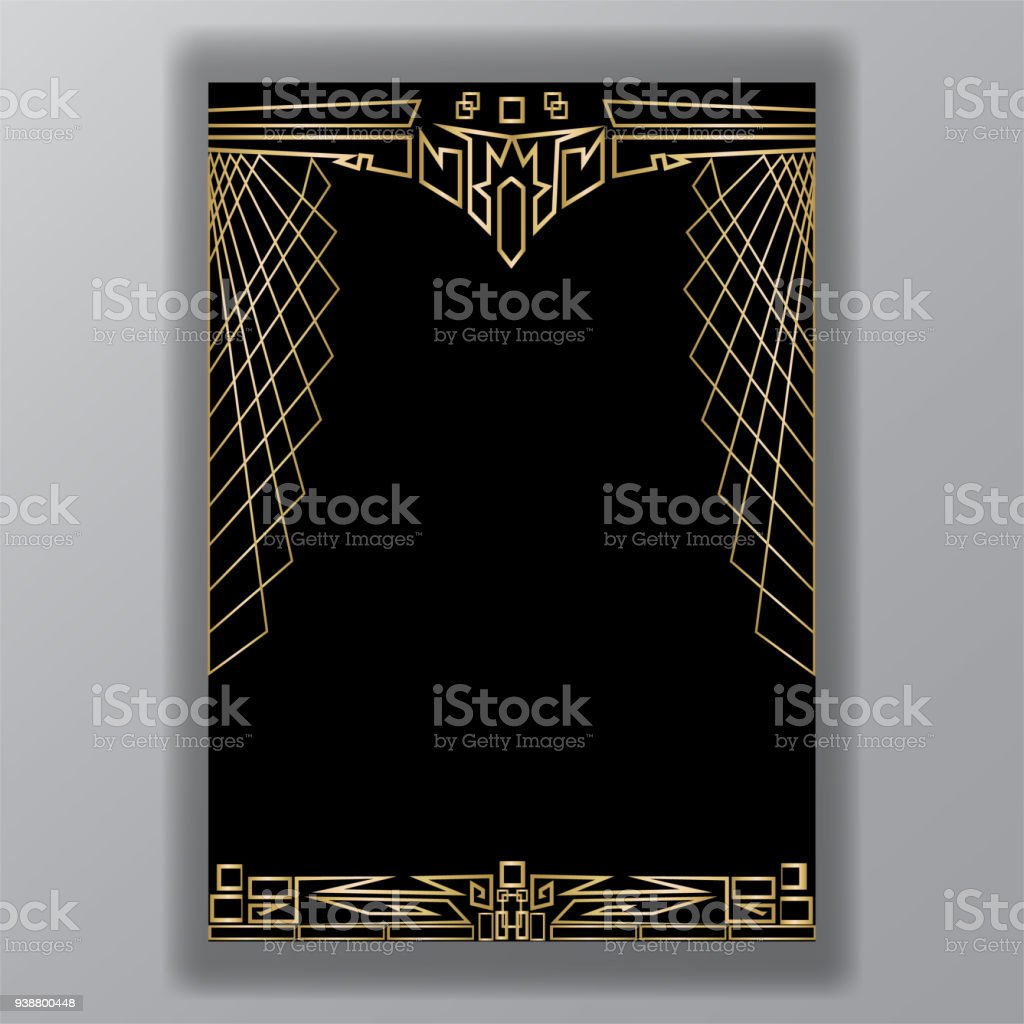 art deco web Indian motive vector art illustration