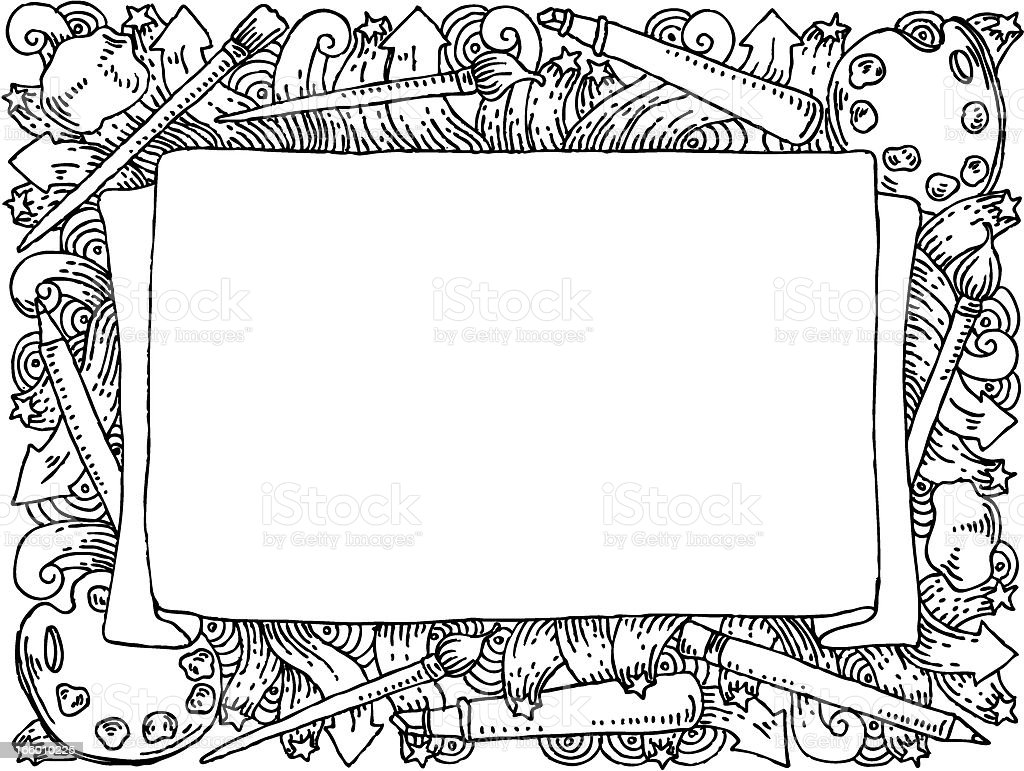 Art doodle banner royalty-free stock vector art