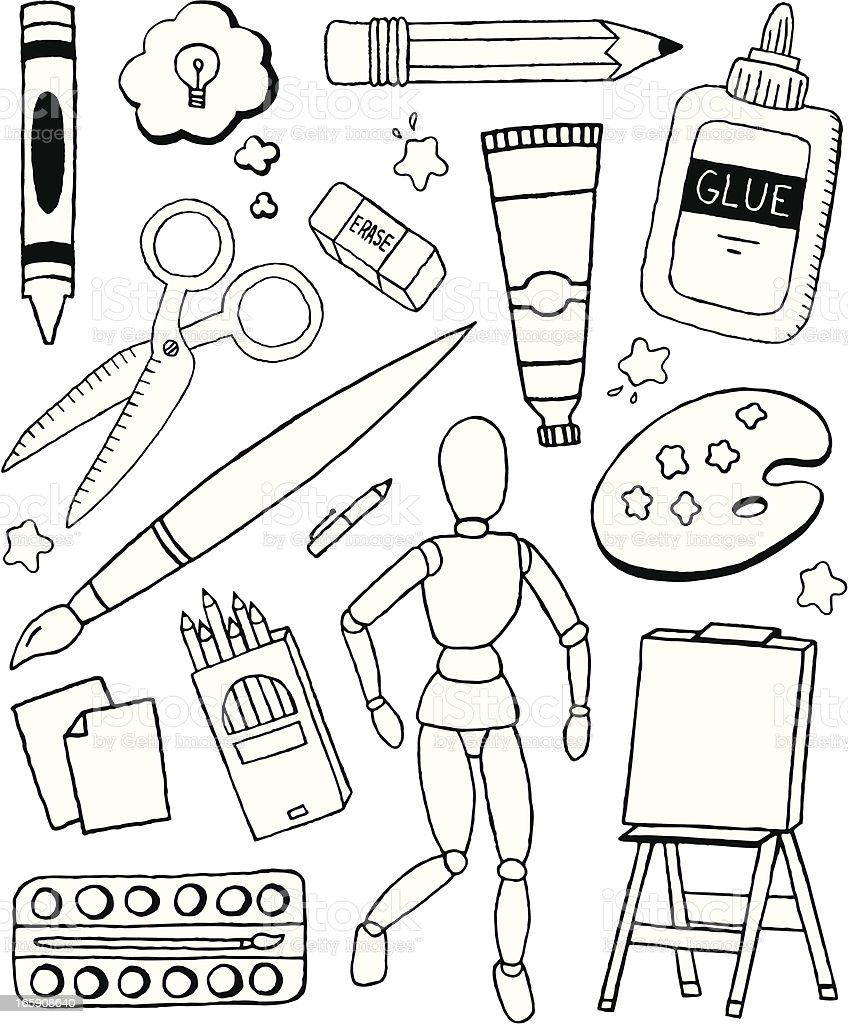 Art Doodles vector art illustration
