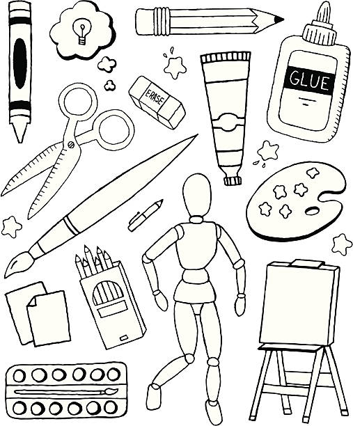 Art Doodles vector art illustration