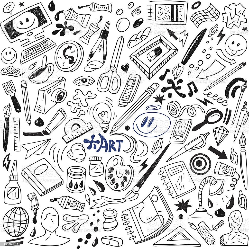 Art Doodles - Vector vector art illustration