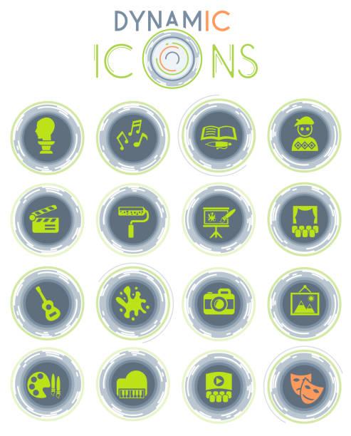 illustrations, cliparts, dessins animés et icônes de icônes dynamiques d'art - camera sculpture