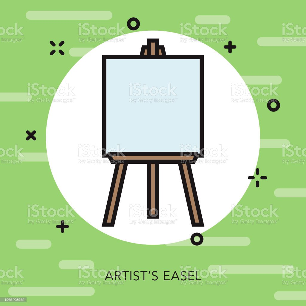 Art Easel Thin Line Italy Icon vector art illustration