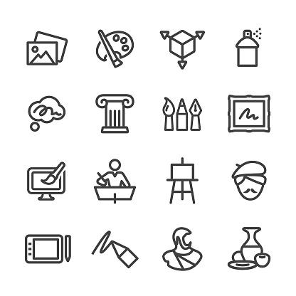 Art Education Icons - Line Series