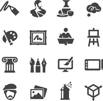Art Education Icons Set - Acme Series