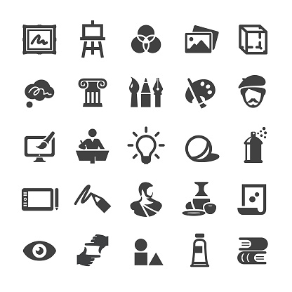 Art Education Icons Set - Smart Series