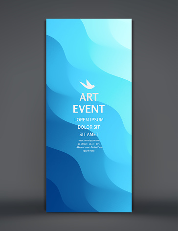 Art event invitation template. Abstract background with dynamic effect. Vector illustration for promotions or presentations.