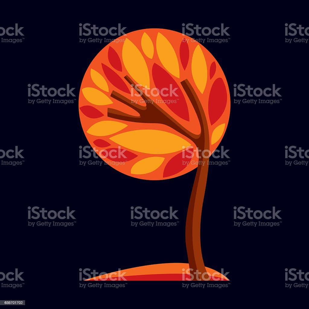 Art fantasy illustration of tree, stylized eco symbol. Graphic royalty-free art fantasy illustration of tree stylized eco symbol graphic stock vector art & more images of abstract