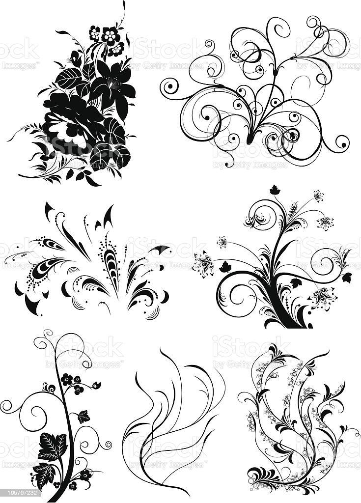 art flower royalty-free stock vector art