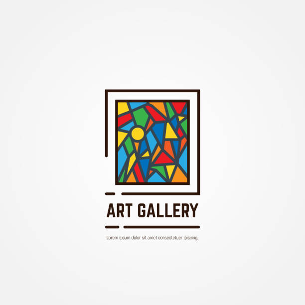 アート ギャラリー エンブレム - 美術館点のイラスト素材/クリップアート素材/マンガ素材/アイコン素材