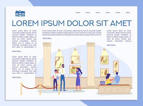 Art Gallery Museum Informative Landing Page Design