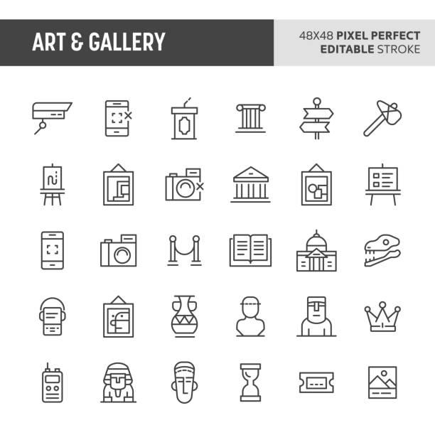 アート ・ ギャラリー ベクトル アイコンを設定 - 美術館点のイラスト素材/クリップアート素材/マンガ素材/アイコン素材