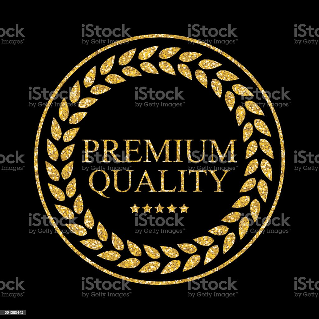 Art Golden Medal Icon Sign Premium Quality Vector Illustration vector art illustration