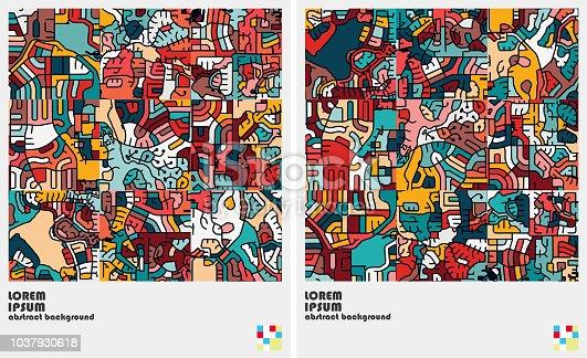 art graffiti pattern background