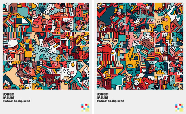 art graffiti pattern background - doodles stock illustrations, clip art, cartoons, & icons