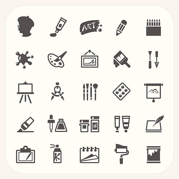 - icons set - palettenbilderrahmen stock-grafiken, -clipart, -cartoons und -symbole