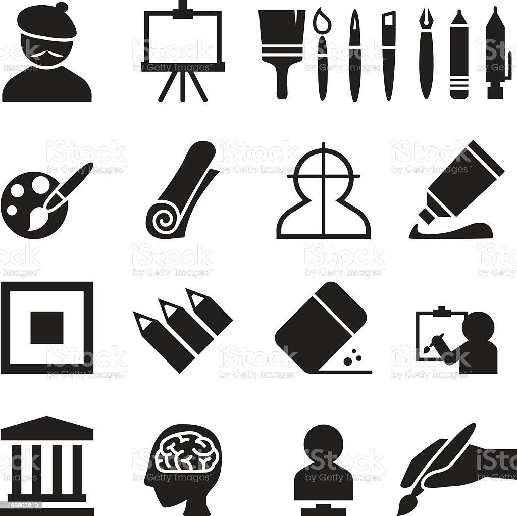 Art icons set vector illustration vector art illustration