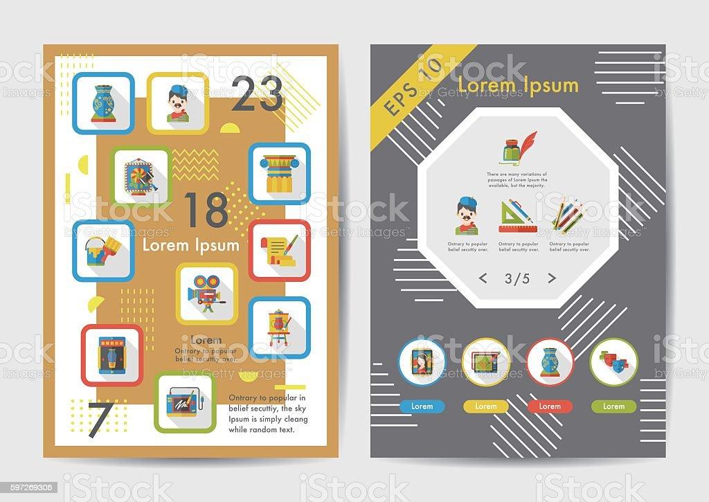 Art icons set with long shadow,eps10 Lizenzfreies art icons set with long shadoweps10 stock vektor art und mehr bilder von akkordeon - instrument