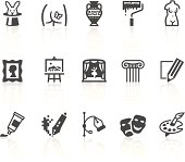 Vector icons. Simple series. One icon consists of a single object + reflection (on a separate layer). EPS8, JPEG + AI CS3