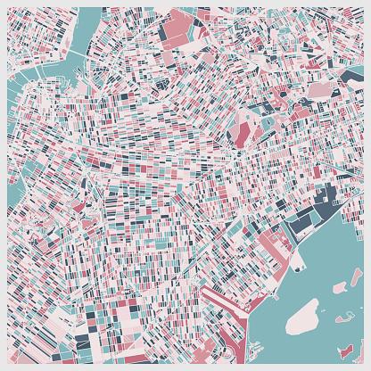 art illustration background,map of New York city