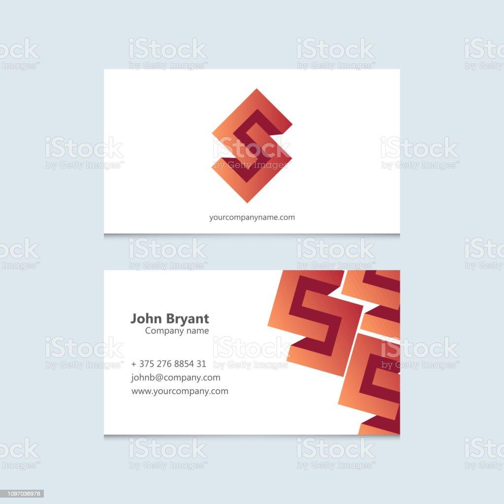 Art illustration creative business card template. Corporate minimal...