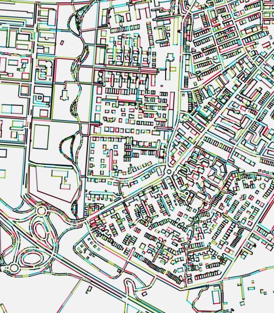 art illustration map,Stadtbergen town in Augsburg,Bavaria,Germany – Vektorgrafik