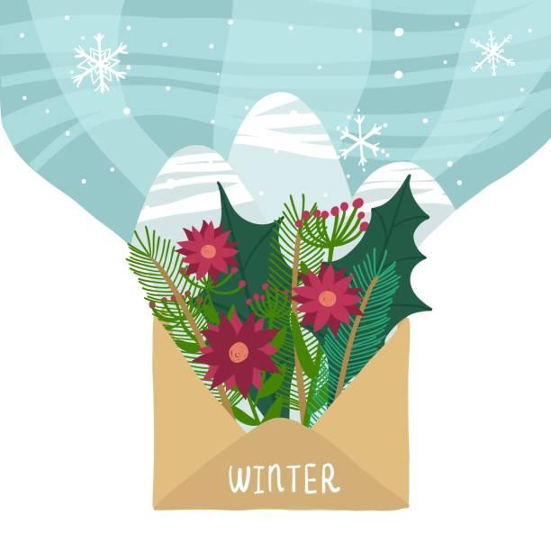 art & illustration - secret santa messages stock illustrations
