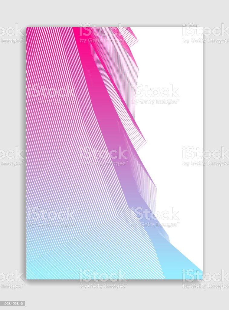 Art linear vector minimalistic trendy brochure design, cover template, geometric halftone gradient. For Banners, Placards, Posters, Flyers. Perfect and unlike, pattern texture. vector art illustration