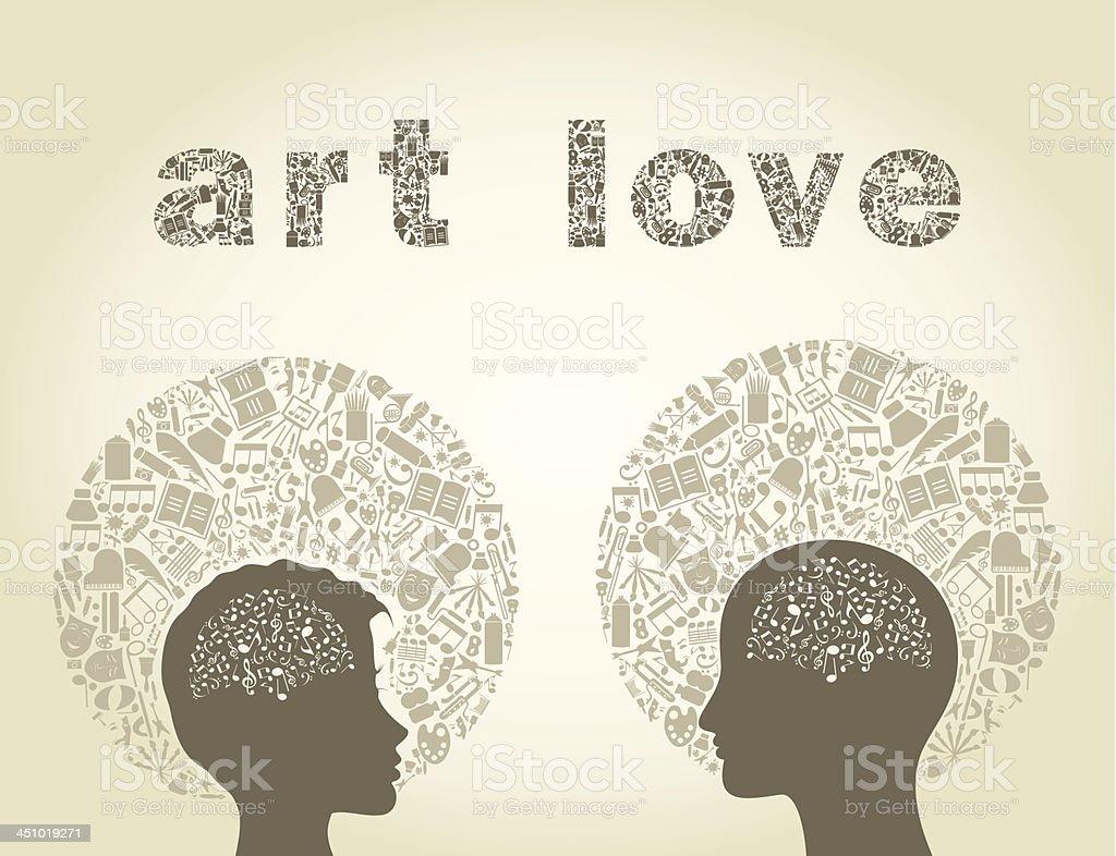 Art love royalty-free stock vector art