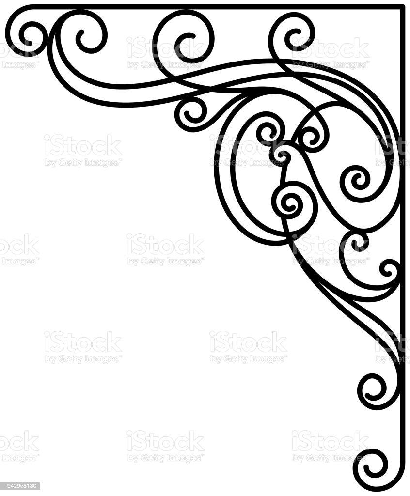 art nouveau art deco wrought iron vector classic stock vector art rh istockphoto com art nouveau vector frame art nouveau vector frame