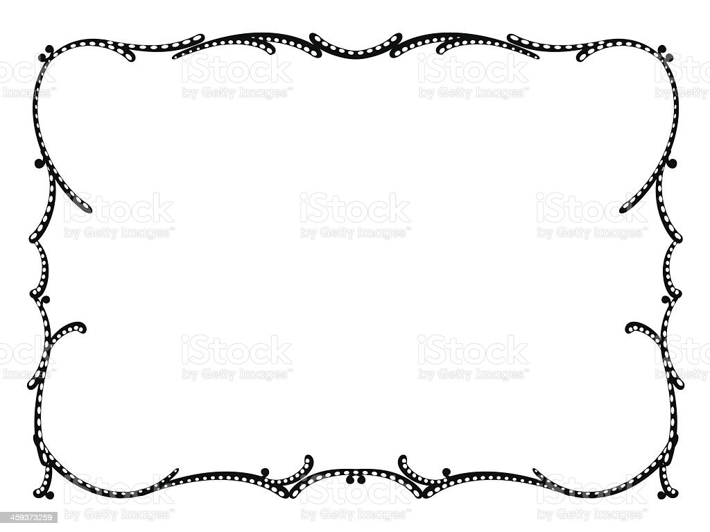 art nouveau black ornamental decorative frame royalty-free stock vector art