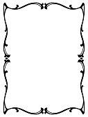 Vector art nouveau black modern ornamental decorative frame