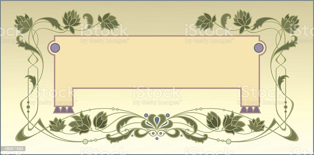 Art Nouveau Decorative Page vector art illustration