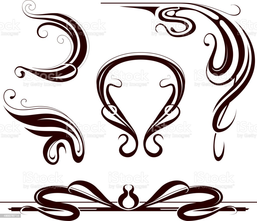 art nouveau design elements stock vector art more images of 2015 rh istockphoto com art nouveau vector frames free art nouveau victor horta