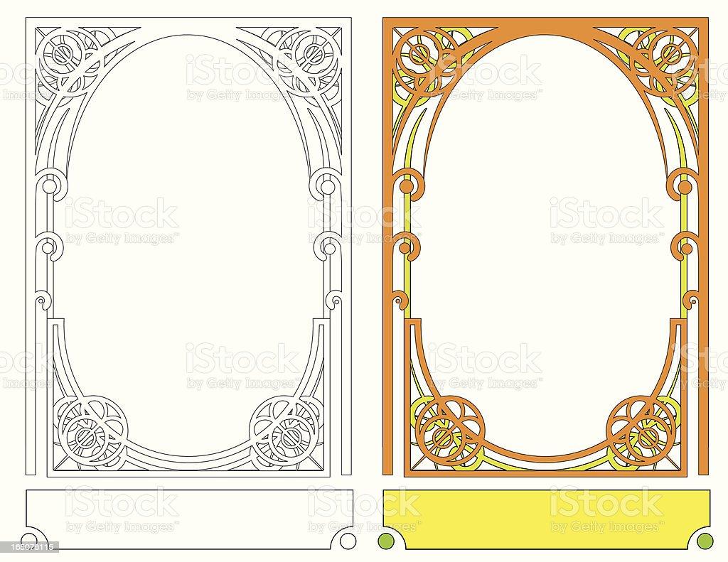 Art Nouveau Frame III vector art illustration
