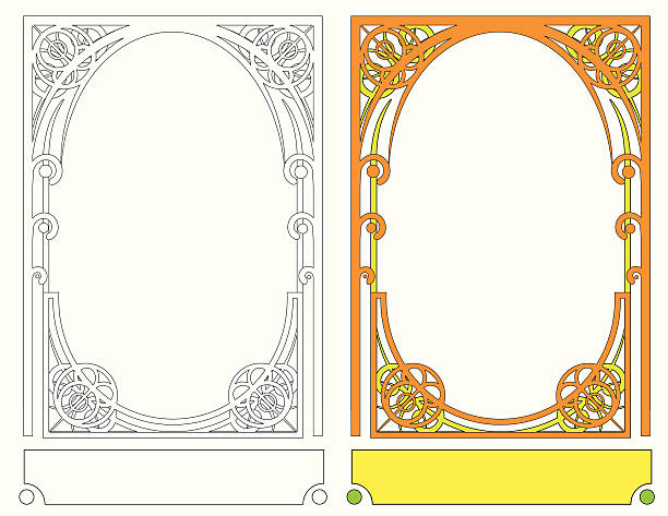 Art Nouveau Frame III vector art illustration